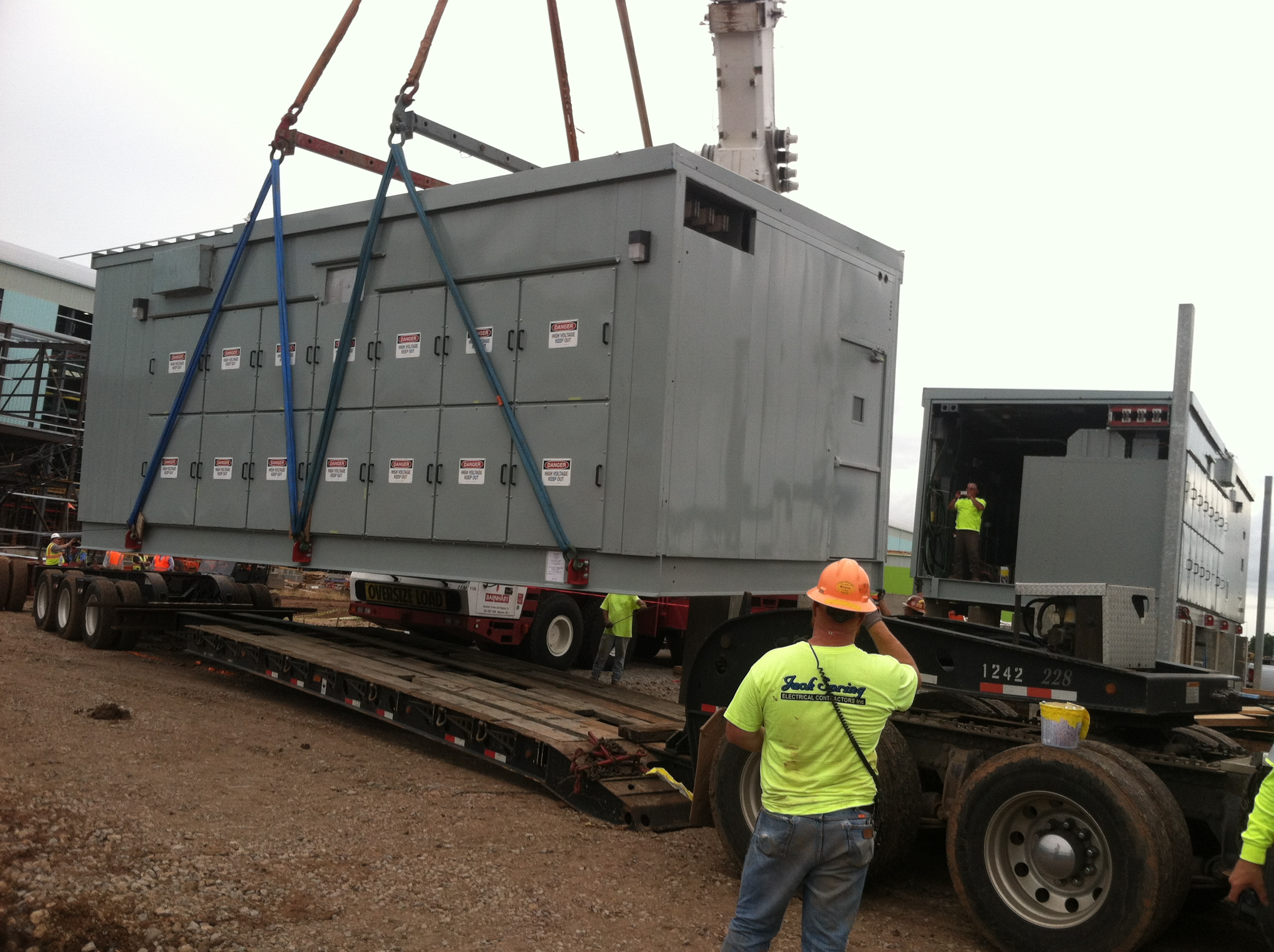 Installation of medium voltage switchgear